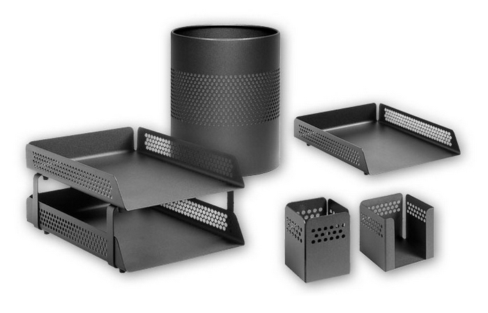 PERFORATED DESK SETS